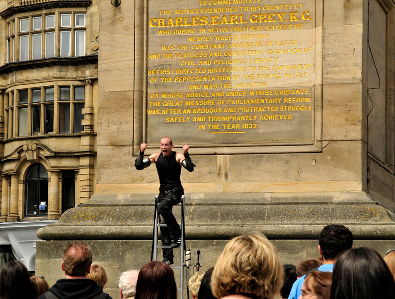 Street Performer In Front Of Grey's Monument