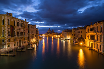 Grand Canal Night | Accademia | Venice