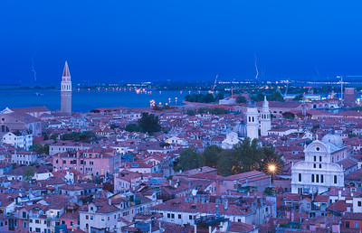 View from the Campanile on St Mark's Square in Venice Italy
