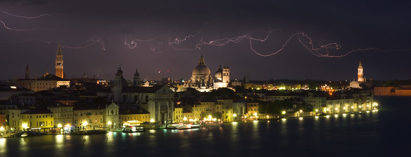Venice Skyline-Molino Stucky-Lightning