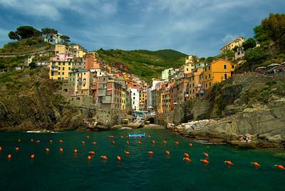 Italy-Cinque Terre-Riomaggiore-Italian Riviera-Ligurian Sea