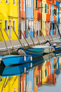 Burano in Venice-Reflections-Canals