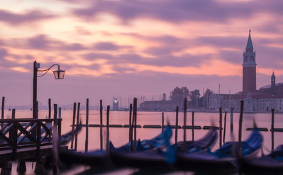 Venice-Italy-Gondolas