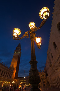 St Mark's Square in Venice Italy-Campanile-Doge's Palace-St Mark's Basilica