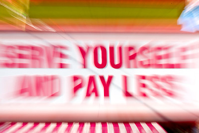 A sign in Chinatown becomes a subject for an on-camera zoom blur