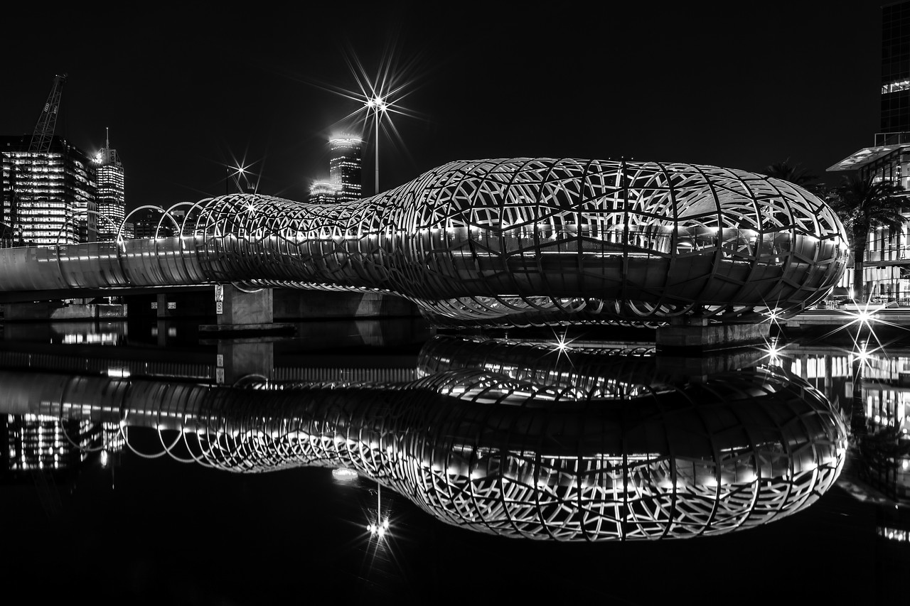 Webb Bridge, South Wharf, Victoria, Australia