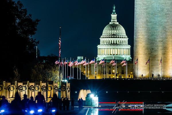 Lincoln Memorial Reflecting Pool || Washington, D.C., USA  Canon EOS 6D w/ 150-600mm F5-6.3 DG OS HSM | Sports 014: 600mm @ 0.3 sec, f/6.3, ISO 3200