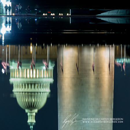 Lincoln Memorial Reflecting Pool || Washington, D.C., USA  Canon EOS 6D w/ 150-600mm F5-6.3 DG OS HSM | Sports 014: 600mm @ 0.6 sec, f/6.3, ISO 2500