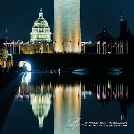 Lincoln Memorial Reflecting Pool || Washington, D.C., USA  Canon EOS 6D w/ 150-600mm F5-6.3 DG OS HSM | Sports 014: 321mm @ 0.3 sec, f/6.3, ISO 3200