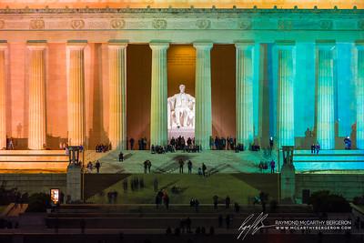 Lincoln Memorial || Washington, D.C., USA  Canon EOS 6D w/ 150-600mm F5-6.3 DG OS HSM | Sports 014: 600mm @ 2.5 sec, f/9, ISO 400