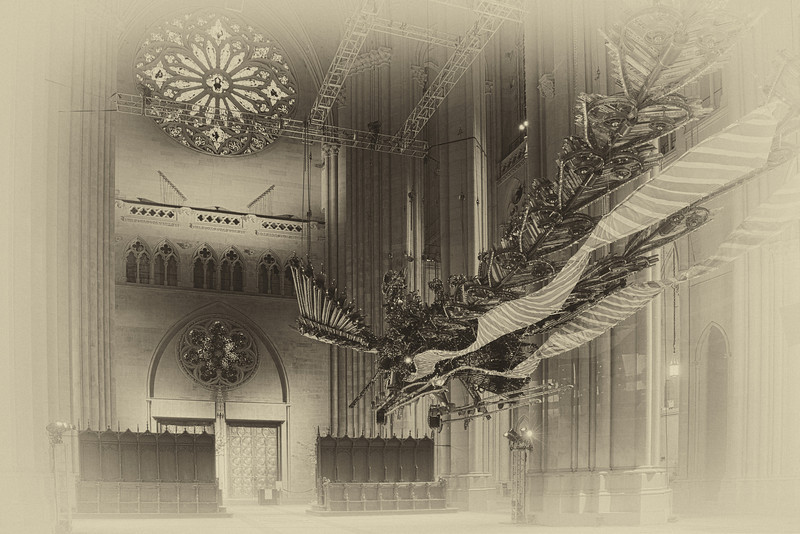 One of the Phoenix sculptures
