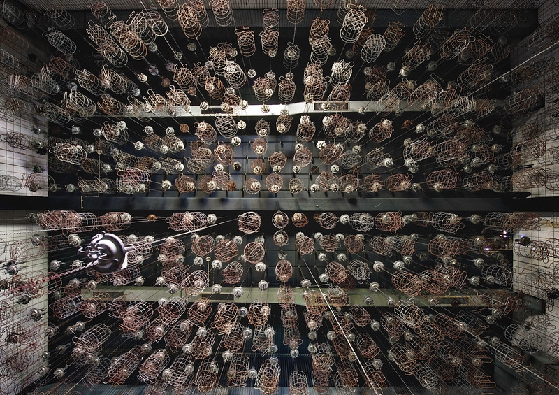 Koempel - Baskets in an abandoned mine where miners used to store their personal belongings before going underground. Everyday clothing and valuables were deposited in the basket and pulled up by chain and locked in place.