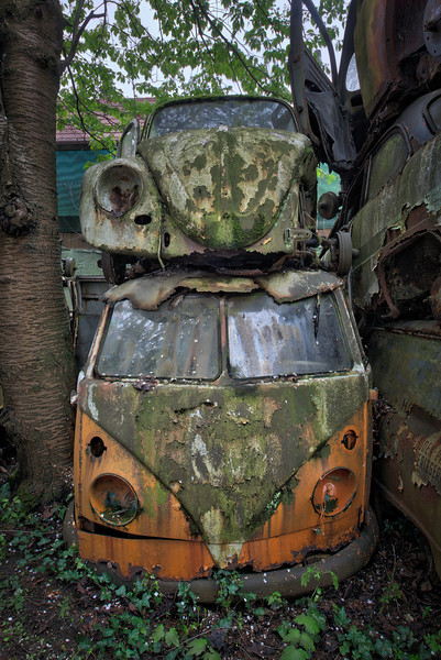 Legends - Found these 2 old Volkswagen icons in an abandoned car graveyard.