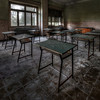 School's out for summer ! - Classroom inside an abandoned orphanage