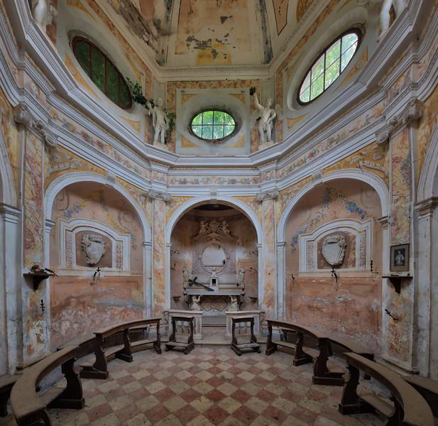 Spheroid - Pastel coloured abandoned chapel