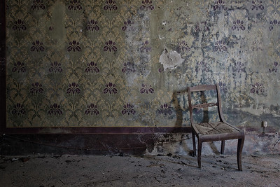 "Unstable - An almost empty room in an abandoned villa.the only thing left in this room is an old broken chair. One of my personal favourite photos.   I think it looks much nicer than both ""Phantom"" and ""Rhein II"" so if somebody is willing to pay $6.800.000 this will officially be the most expensive photo in the world ;)"