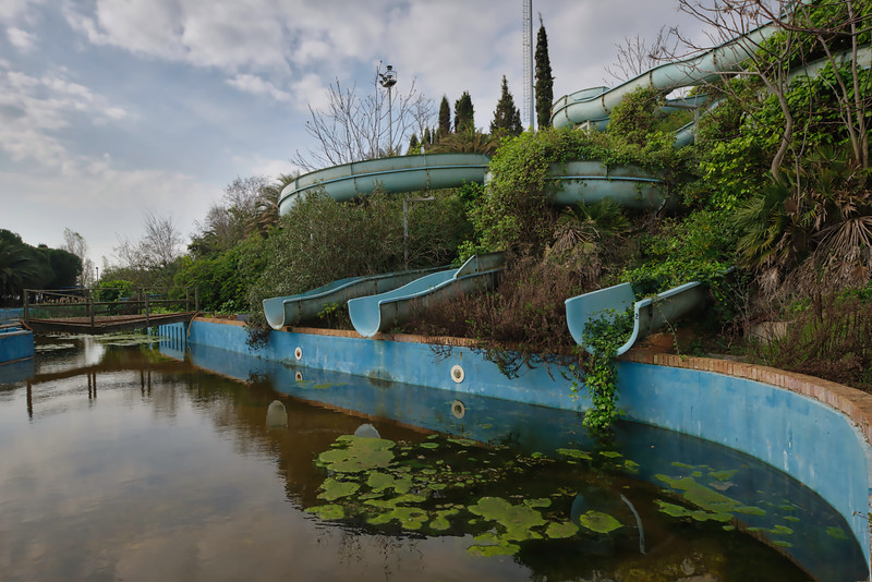 Jungle Splash - Slides in abandoned waterpark