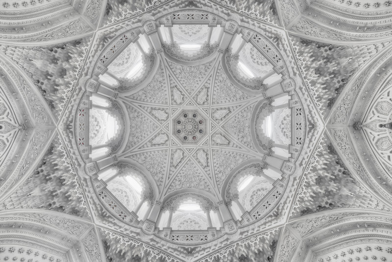 Ice Dome - Abandoned castle ceiling shot from the floor into this ornate dome.