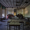 Diner 64 - Former dining room in an abandoned grand hotel.