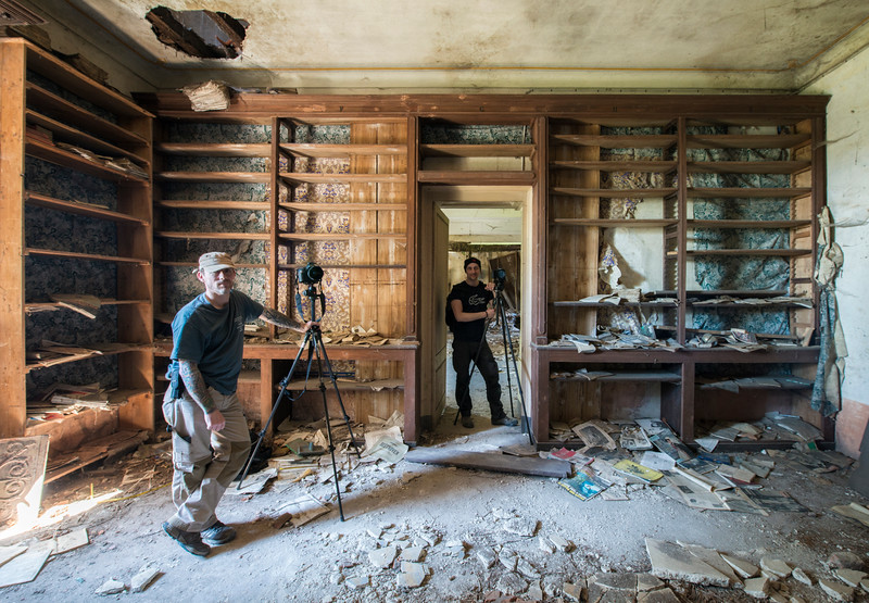 The Librarians - Shot in the library of a derelict villa.