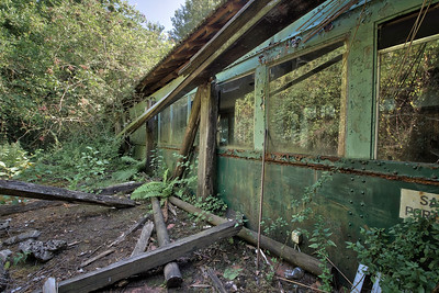 Lost Train - Abandoned train high up a mountain in the middle of the woods.