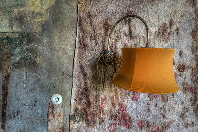 When Lights Fade - Mouldy wall in an abandoned hotel