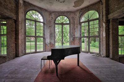 Painkiller - Music, the medicine for the soul. It lets you escape into another world. Inside this former tuberculosis sanatorium this auditorium made everything less painful for the patients.
