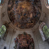 Michelangelo's lost chapel - Who can expect such a wonderful paint job inside an abandoned chapel. It could be Michelangelo's work. Shot with a fish-eye to capture the whole ceiling