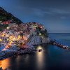 "Blue Hour - Instead of an abandoned place, this time a Blue hour shot of Manarola, one of 5 ""Cinque Terre"" villages in Italy. These 5 villages have been placed on the UNESCO world heritage list."