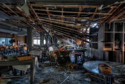 The Diner - A blazing fire wreaked havoc in this former hotel dining room