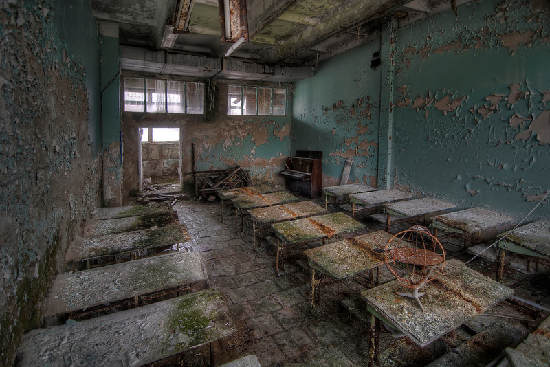 School's out ! - Classroom in Pripyat, Chernobyl Exclusion Zone