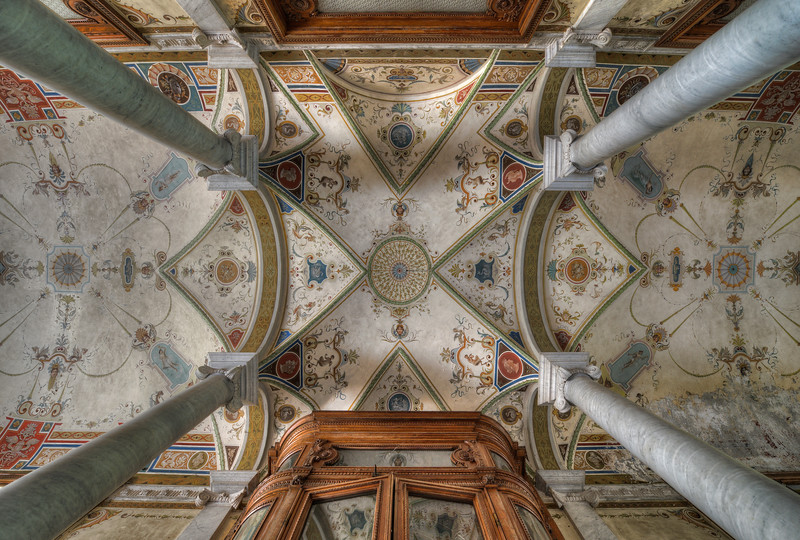 Sky Above - Painted ceiling in an abandoned villa
