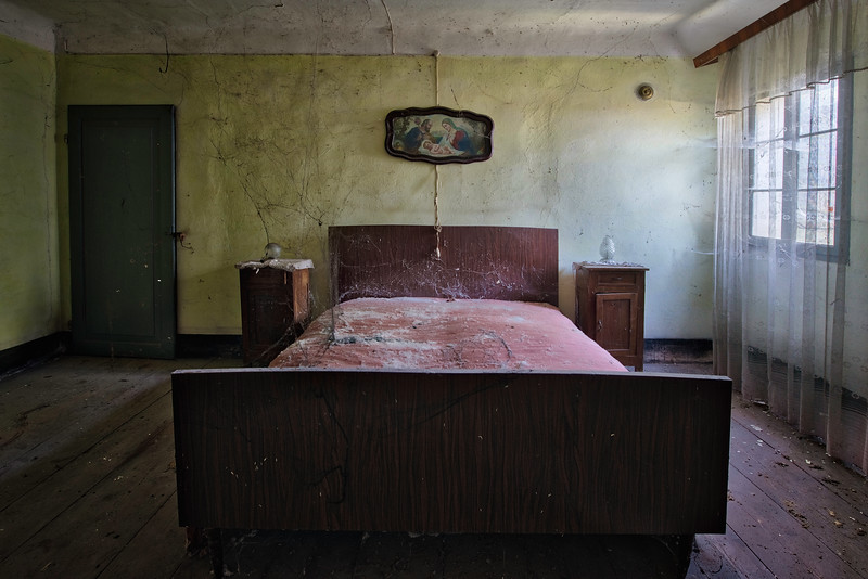 Villa Arachno - The room in this villa is totally covered in spiderwebs. Hard to move around without touching one. Everything still itches..... yuk <br /> <br /> New book : Tempus Fugit - a Decade in Decay pre-order through my website.