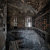 Blackened - Partly burned room in an abandoned psychiatric hospital.