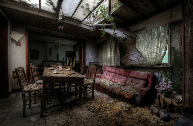 Forces of Nature - Mother Nature reclaims her ground in this abandoned decayed house