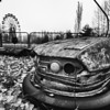 Bumper car in Pripyat, Chernobyl Exclusion Zone 2010