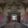 Red Star - Almost every room inside this huge abandoned monasteries has an amazing decorated ceiling.