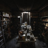 """The Basement - The infamous """"Horror Labs"""". A room stuffed with lungs, hearts, intestines and animal heads partly submerged in formaldehyde."""