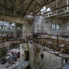Crane - Shot inside a former hydro powerplant