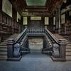 Wooden steps - True craftmanship inside this abandoned castle