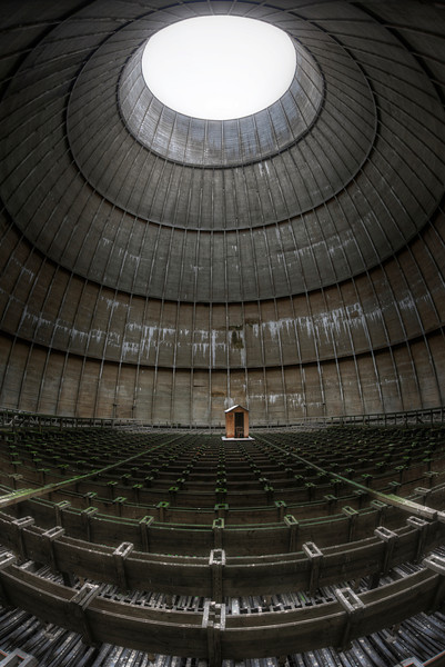 The Cabin in the Tower - Why on earth would they put a small cabin inside a cooling tower ??