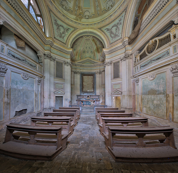 Sanctorium - This pastel coloured sanctuary is actually a private chapel, part of an old abandoned villa.