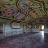 Ornate - Highly decorated ceiling in an abandoned villa