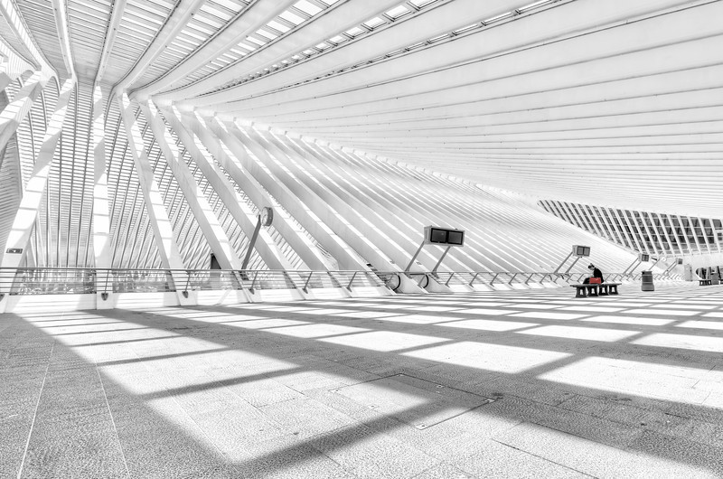 Red - And now for completely something different... Liege's amazing trainstation Guillemins. Designed by Santiago Calatrava