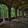 It's a jungle out there - Part of massive abandoned villa. I wonder what this room used to be.