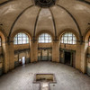 Bathing Dome - A very tiny pool in the bathhouse of a former sanitarium. For those of you who are into Rammstein. They recorded one of their videos here. Reconverting the sanitarium into artist spaces will start very soon. Imagine this room being your own art studio....