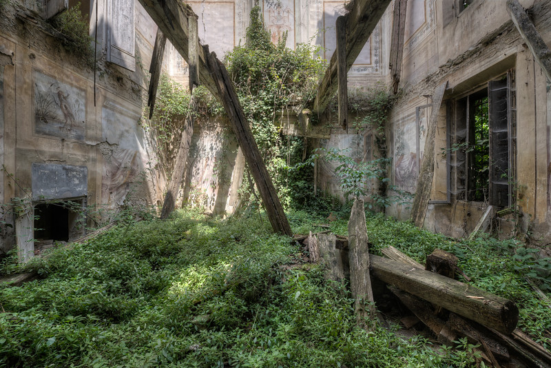 Natures Revenge - This shows the true power of nature, no matter how big the beams or the walls are, no matter how beautiful this villa once was, nature takes it back in the end.