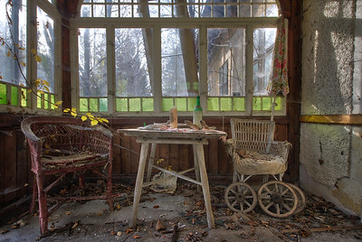 Table for Two - Lovely veranda attached to an abandoned house.