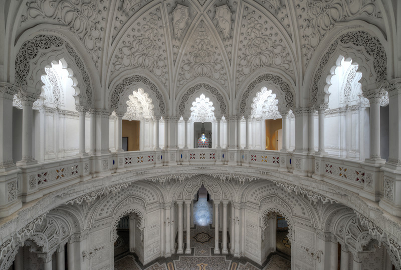 Under the Dome - This white wonder is perhaps the most breathtaking room of the many ornate rooms inside this abandoned castle.