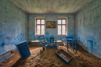 Desert House - Strange looking room in an abandoned house.